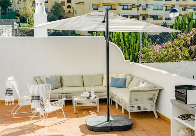 Terrace views of 2 Bedroom Holiday Apartment with Pool and terrace in Estepona
