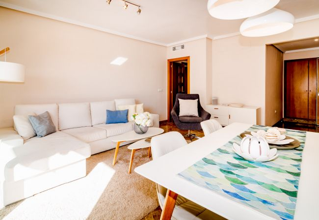 Living area of 2 Bedroom Holiday Apartment with Pool and terrace in Estepona