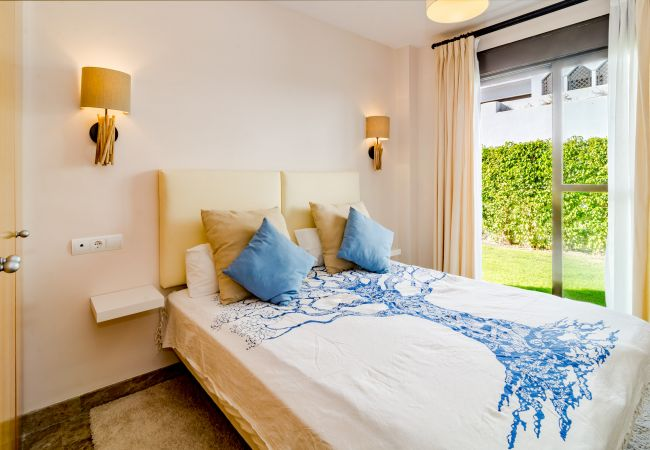Bedroom of 2 Bedroom Holiday Apartment with Pool and terrace in Estepona