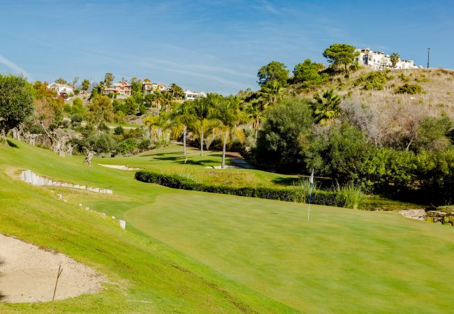 Golf views of 2 Bedroom Holiday Apartment with Pool and terrace in Estepona