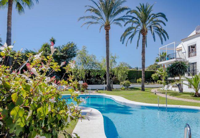 Swimming Pool of Magnificent apartment in Nueva Andalucia
