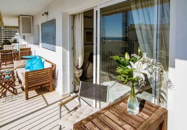 Balcony of Beachfront Penthouse in Marbella Center