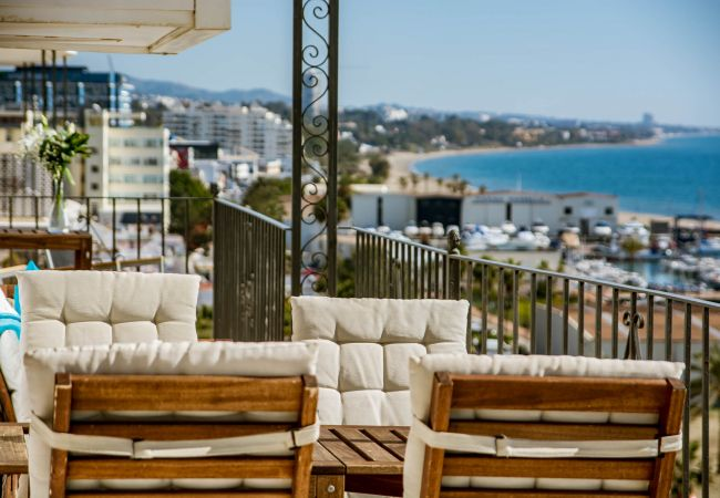 Terrace of Beachfront Penthouse in Marbella Center