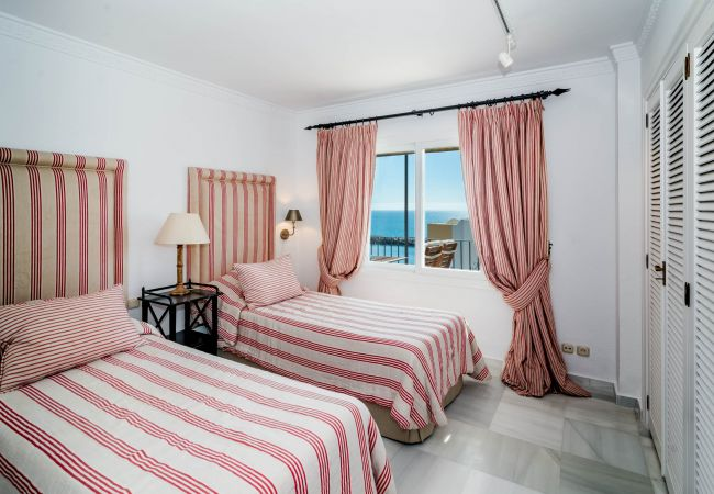 Bedroom of Beachfront Penthouse in Marbella Center