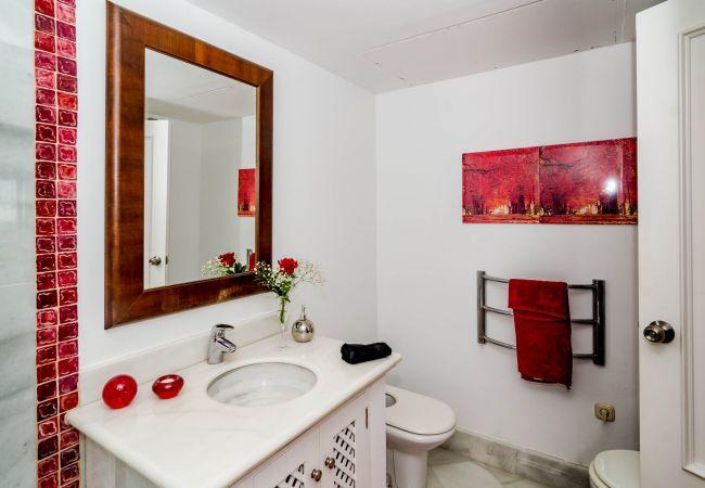 Bathroom of Beachfront Penthouse in Marbella Center